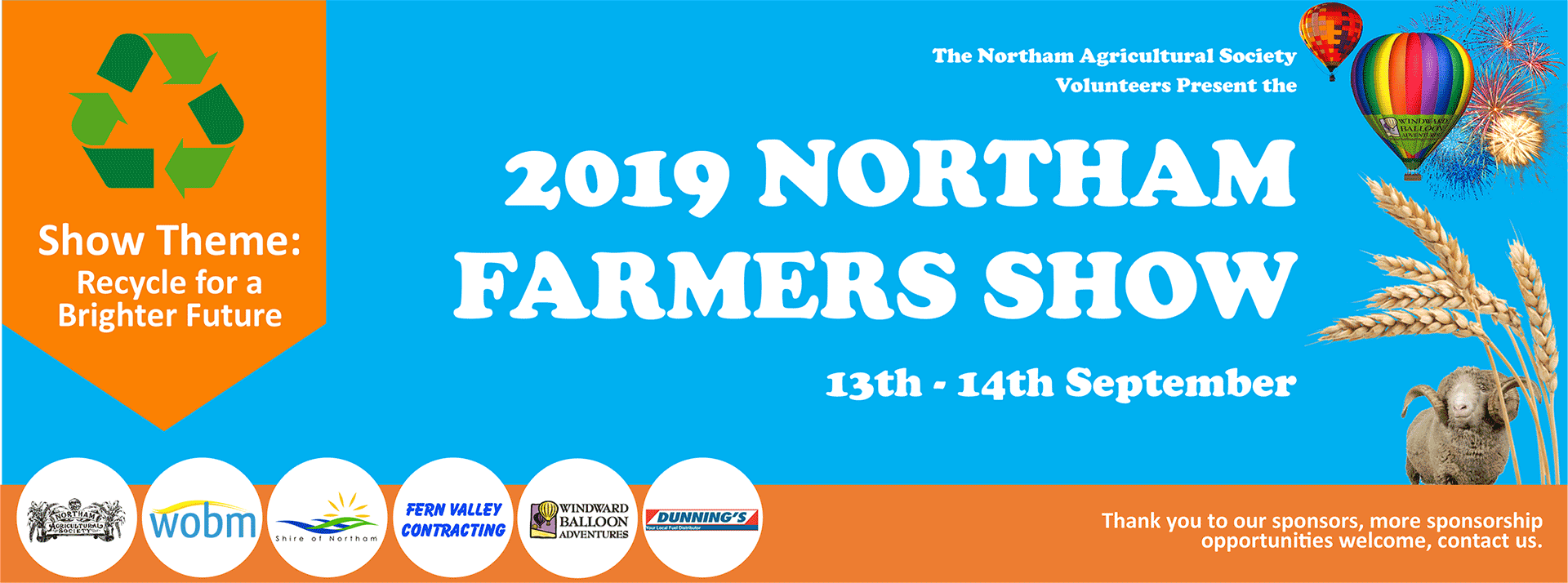 Northam Show 13th & 14th September 2019